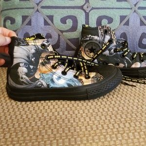 Boys Converse Batman Shoes